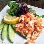Crayfish tails at the George in Molash