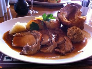 Roast Loin of Cider Fed Pork at the Kings Arms