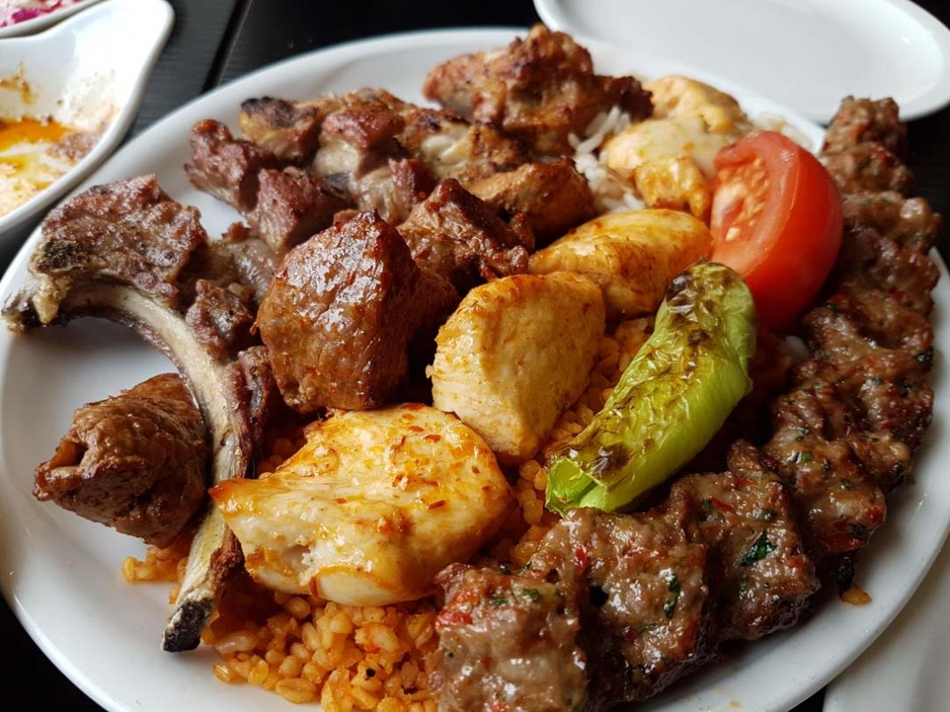 Mixed grill kebabs