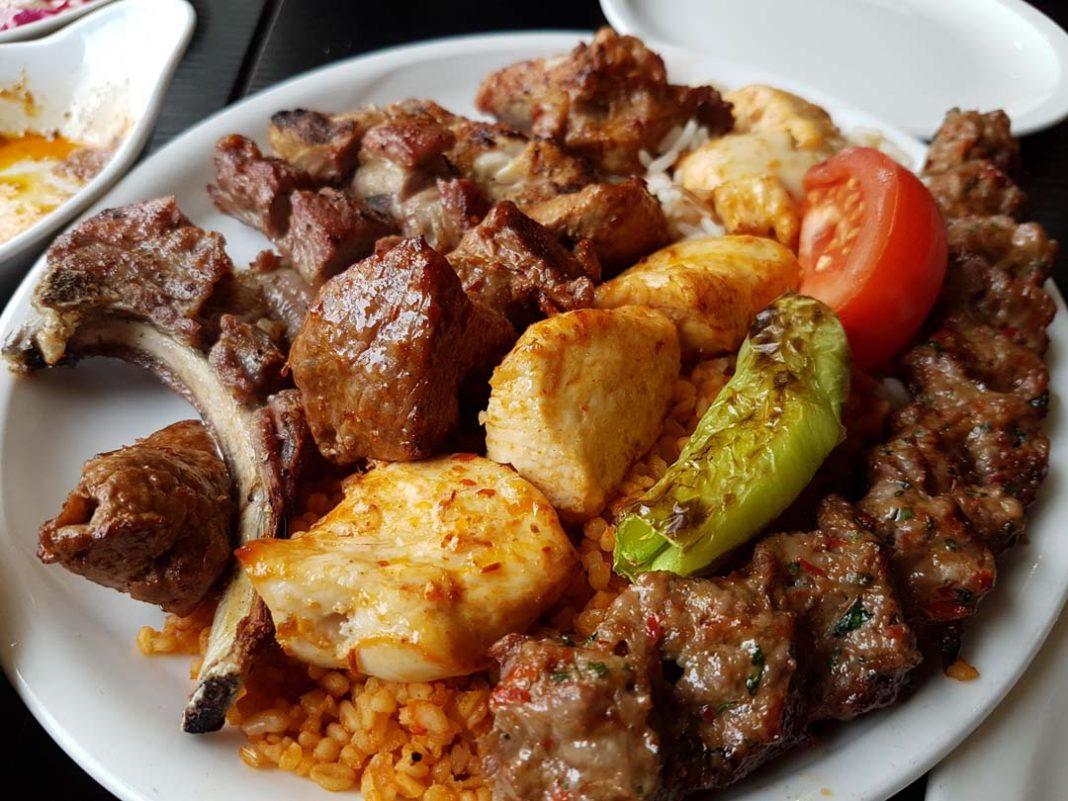Mixed grill kebabs
