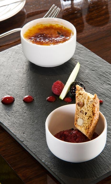 Crème Brûlée at Edge Restaurant