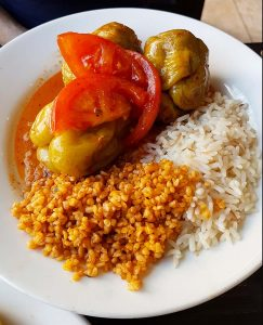 Stuffed peppers at Taze